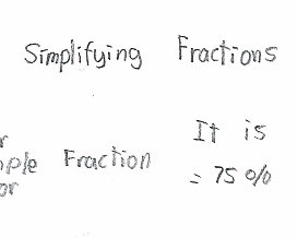 <p>Number and algebra: Simplifying fractions</p>