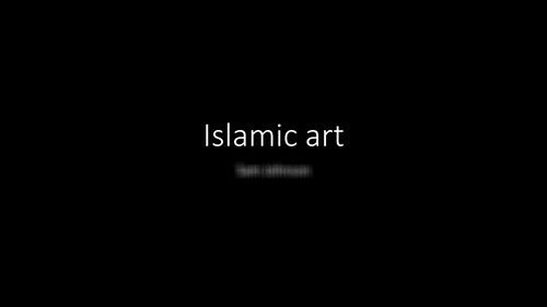 <p>Exploring Islamic art</p>